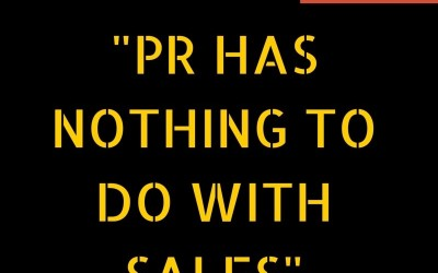 Tech PR myths | Myth #1: 'PR has nothing to do with sales'